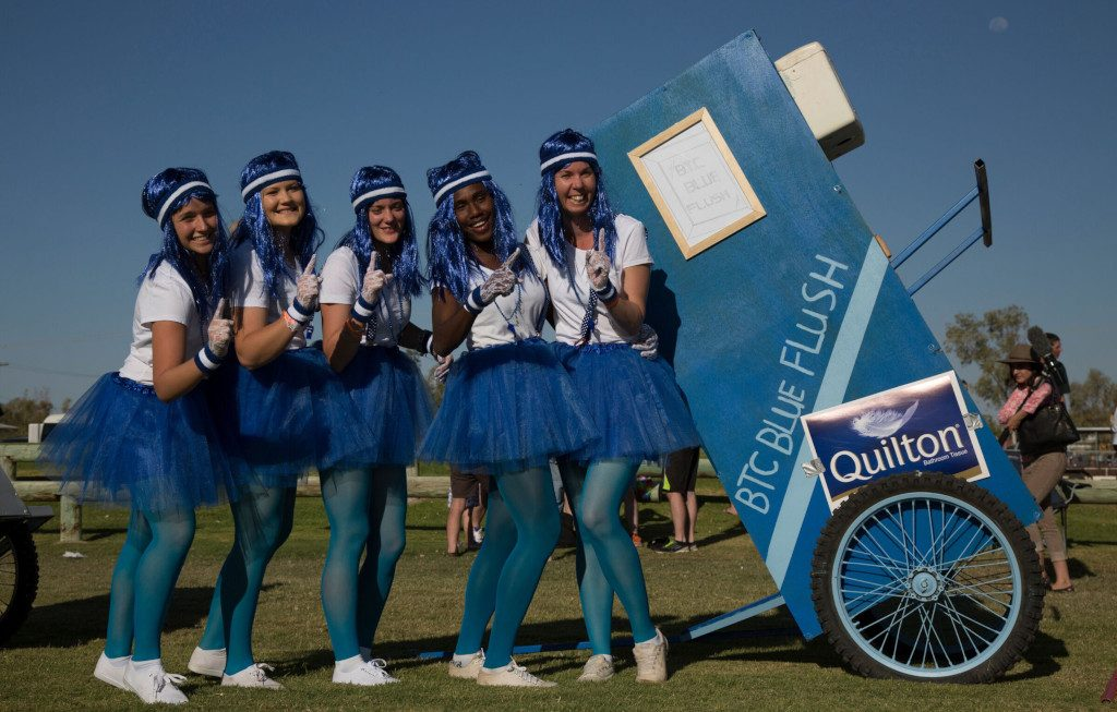 Quilton Australian Dunny Derby raising awareness for bowel health